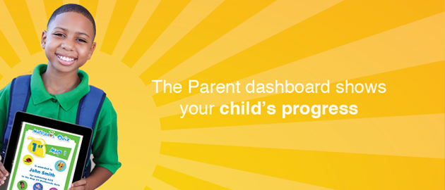 The Parent Dashboard shows your child's progress